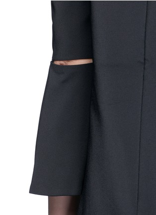 Detail View - Click To Enlarge - Tibi - Lantern sleeve off-shoulder faille dress