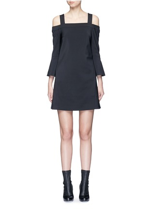 Main View - Click To Enlarge - Tibi - Lantern sleeve off-shoulder faille dress