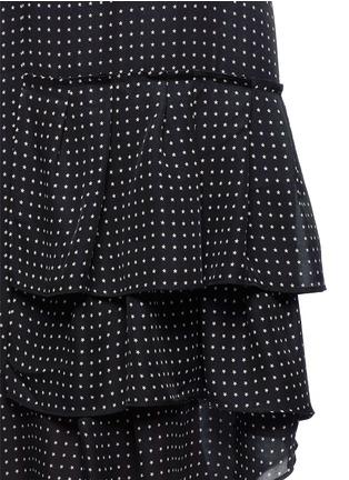 Detail View - Click To Enlarge - Tibi - 'Estrella' star print asymmetric ruffle silk dress