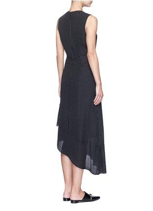 Back View - Click To Enlarge - Tibi - 'Estrella' star print asymmetric ruffle silk dress