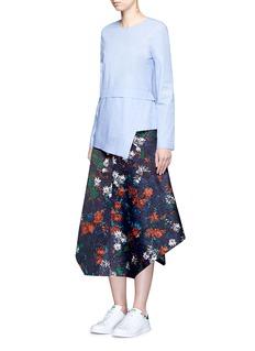 Cédric CharlierFloral print tech fabric skirt