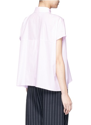 Back View - Click To Enlarge - Cédric Charlier - Boxy fit cotton poplin shirt