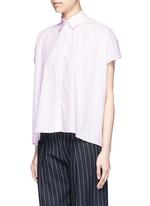 Boxy fit cotton poplin shirt
