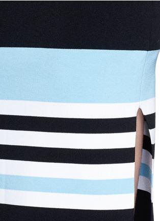 Detail View - Click To Enlarge - Nicholas - Side split stripe knit pencil skirt
