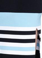 Side split stripe knit pencil skirt