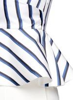 Dual stripe silk peplum bralette top