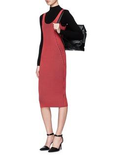 T BY ALEXANDER WANGContrast rib knit tank dress