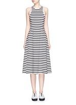 Stripe cotton jersey racerback dress