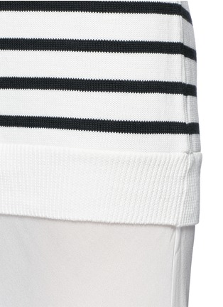 Detail View - Click To Enlarge - T By Alexander Wang - Crepe skirt stripe knit combo dress