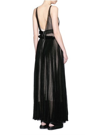 Back View - Click To Enlarge - NICOPANDA - Pleat tulle maxi dress