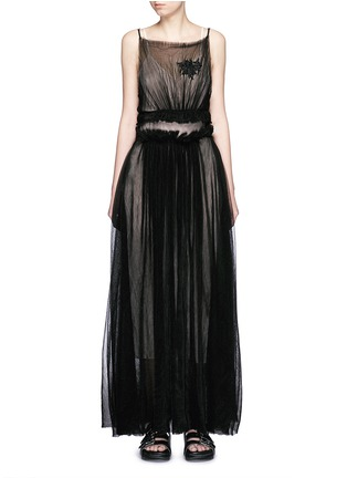 Main View - Click To Enlarge - NICOPANDA - Pleat tulle maxi dress