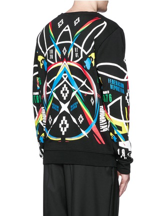 Back View - Click To Enlarge - Marcelo Burlon - 'Osorno' collage print sweatshirt