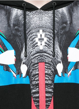 Detail View - Click To Enlarge - Marcelo Burlon - 'Renca' elephant print hoodie