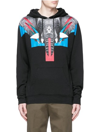 Main View - Click To Enlarge - Marcelo Burlon - 'Renca' elephant print hoodie