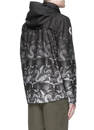 Back View - Click To Enlarge - Marcelo Burlon - 'Lamborghini' snake print zip jacket