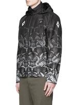 'Lamborghini' snake print zip jacket