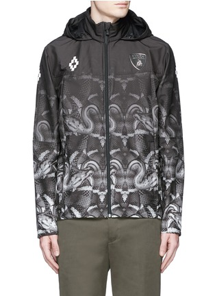 Main View - Click To Enlarge - Marcelo Burlon - 'Lamborghini' snake print zip jacket