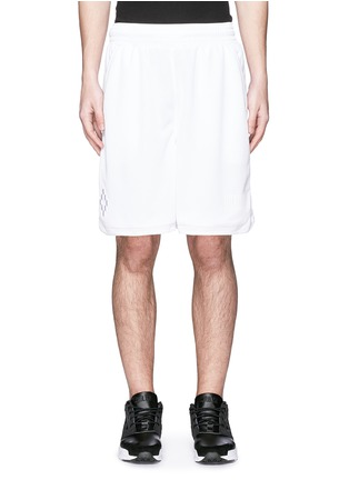 Marcelo Burlon - 'Vallegrande' logo embroidery shorts