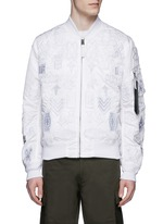 'Alpha Industries' patch embroidery bomber jacket