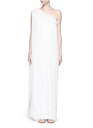 Main View - Click To Enlarge - Temperley London - 'Damara' fringe trim one-shoulder dress