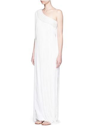 Figure View - Click To Enlarge - Temperley London - 'Damara' fringe trim one-shoulder dress