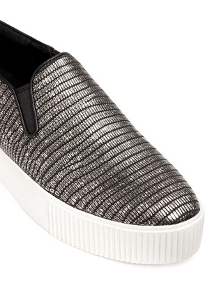 Detail View - Click To Enlarge - Ash - 'Karma' metallic lizard effect leather flatform slip-ons