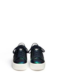 Ash 'Cult' holographic croc effect leather platform sneakers