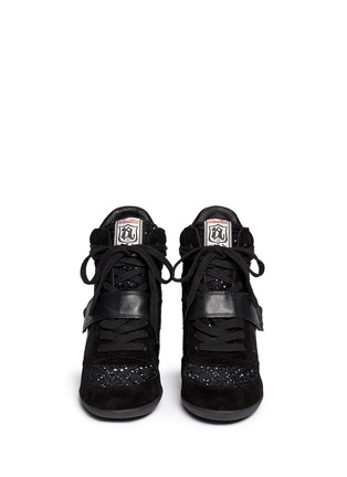Figure View - Click To Enlarge - Ash - 'Bowie' sequin crochet high top wedge sneaker