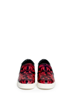 ASH 'Impuls' lily print leather skate slip-ons