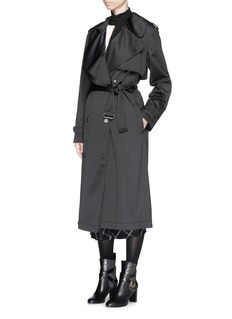 LANVIN Water repellent taffeta trench coat