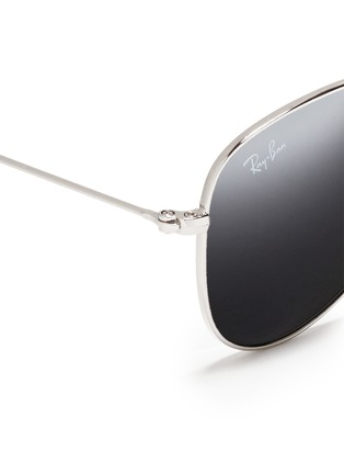 细节 - 点击放大 - RAY-BAN - 'Aviator Junior' metal sunglasses