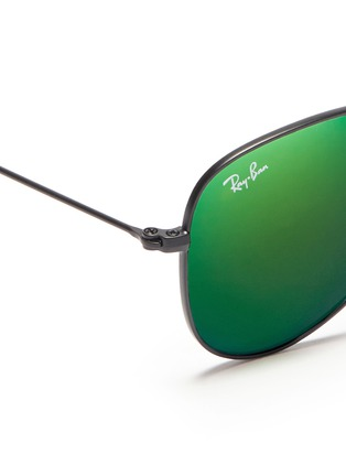 Detail View - Click To Enlarge - Ray-Ban - 'Aviator Junior' metal sunglasses