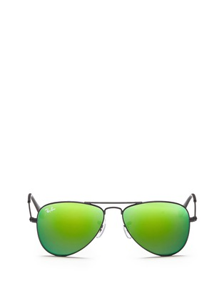 Main View - Click To Enlarge - Ray-Ban - 'Aviator Junior' metal sunglasses