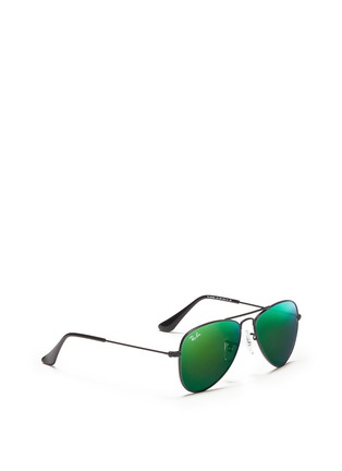 Figure View - Click To Enlarge - Ray-Ban - 'Aviator Junior' metal sunglasses