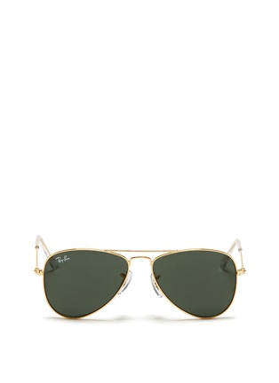 Main View - Click To Enlarge - Ray-Ban - 'Aviator Junior' metal frame sunglasses