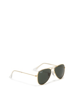 Figure View - Click To Enlarge - Ray-Ban - 'Aviator Junior' metal frame sunglasses