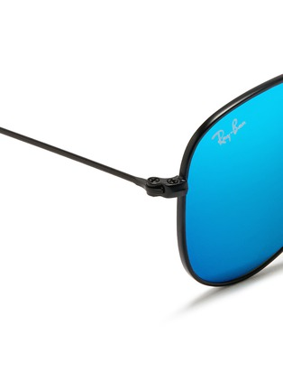 Detail View - Click To Enlarge - Ray-Ban - 'Aviator Junior' metal frame mirror sunglasses