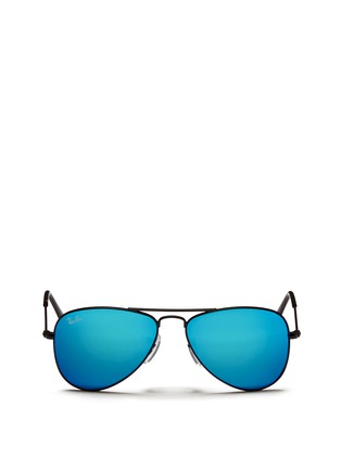 Main View - Click To Enlarge - Ray-Ban - 'Aviator Junior' metal frame mirror sunglasses