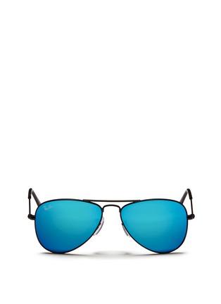 Ray-Ban-'Aviator Junior' metal frame mirror sunglasses