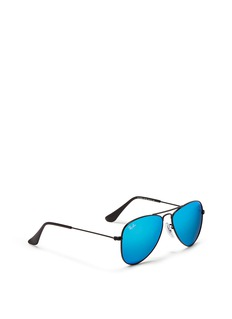 Ray-Ban'Aviator Junior' metal frame mirror sunglasses