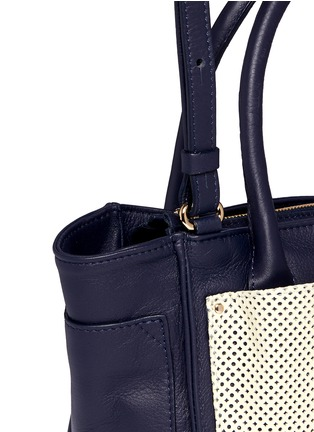 Detail View - Click To Enlarge - See by Chloé - 'Nellie' small perforated front leather tote