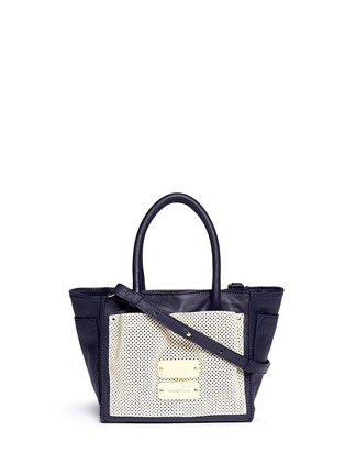 Main View - Click To Enlarge - See by Chloé - 'Nellie' small perforated front leather tote
