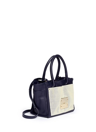 Figure View - Click To Enlarge - See by Chloé - 'Nellie' small perforated front leather tote