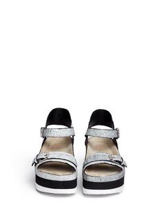 ASH'Vera' cracked paint suede flatform sandals