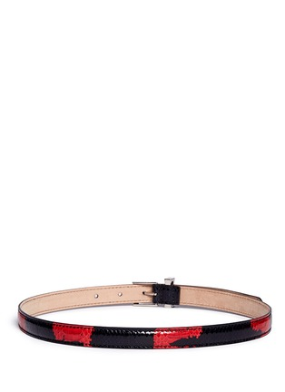 模特儿示范图 - 点击放大 - ALEXANDER MCQUEEN - Colourblock snakeskin leather belt