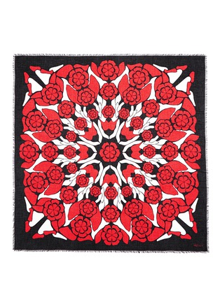 Main View - Click To Enlarge - Alexander McQueen - Kaleidoscopic flower print modal-silk scarf