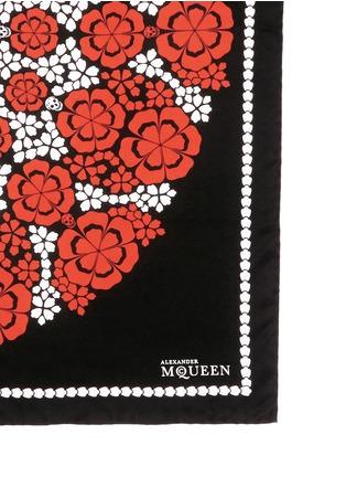 细节 - 点击放大 - ALEXANDER MCQUEEN - Kaleidoscopic floral skull print silk twill scarf