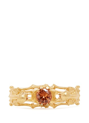 Figure View - Click To Enlarge - Alexander McQueen - Skeleton crystal bracelet