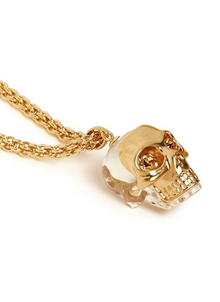 Detail View - Click To Enlarge - Alexander McQueen - Mask skull pendant necklace