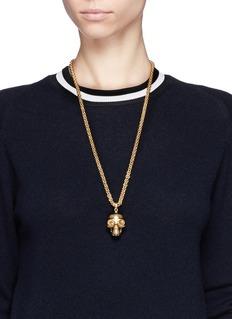 ALEXANDER MCQUEENMask skull pendant necklace